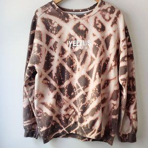 Yeezus Tour Custom Mauve Acid Tie-Dye Sweatshirt